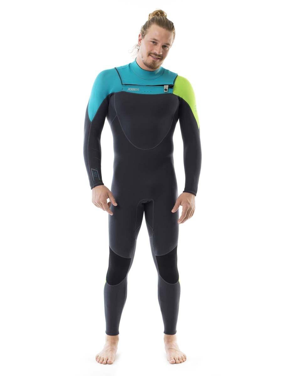 Jobe Perth 3 2MM Chest Zip Teal bluee Mens Full Wetsuit Jetski Wakeboard Waterski