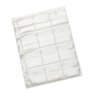 10-Pages-X12-Poches-pour-Capsules-de-Piece-de-Monnaie-pour-Rangement-Piece-de