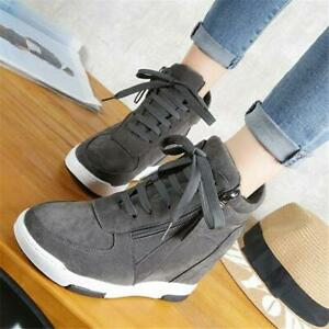 Ladies-Shoes-Lace-Up-Creppers-Wedge-Sneakers-Sport-Ankle-Boots-Oxfords-Shoes-new