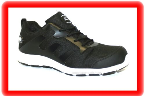 WOMENS GIRLS SAFETY  LIGHT WEIGHT LOW SKATER  TRAINERS  BLACK SHOES  SZ 3-9
