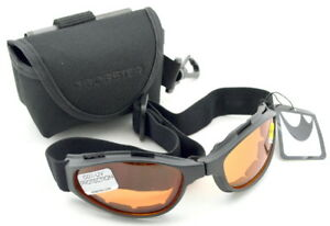 f26dacbfbc2 Image is loading Crossfire-Folding-Goggles-Bobster-Black-with-Amber-Lenses-