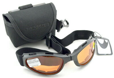 Bobster Folding Crossfire Motorcycle Goggles BCR001 New Smoke Matte Black