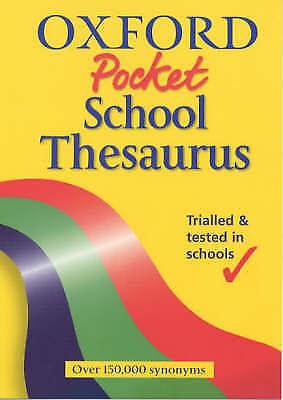 """AS NEW"" Spooner, Alan, OXFORD POCKET SCHOOL THESAURUS, Paperback Book"
