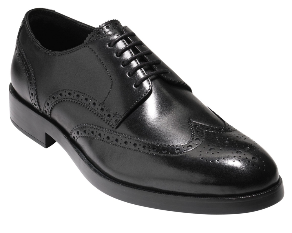 Cole Haan Harrison Grand Men's Black Leather Wingtip Oxford Sz 10M 5972