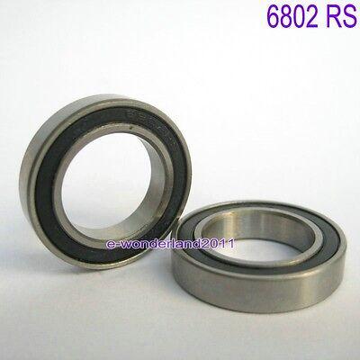 2Pcs 6802 2RS Si3N4 Ceramic Ball Bearing Rubber Sealed 61802 Bike Parts15x24x5mm