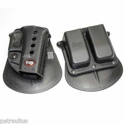 FOBUS Paddle Holster / Double Mag Pouch RH for GLOCK 17 19 22 23 26 31 32 34 35