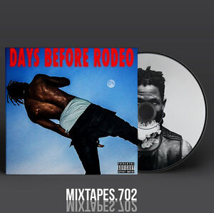 Travis Scott Days Before Rodeo Mixtape Cd Front Back