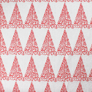 Tablecloth Table Christmas Covering A Pattern Spirit Trees Red White