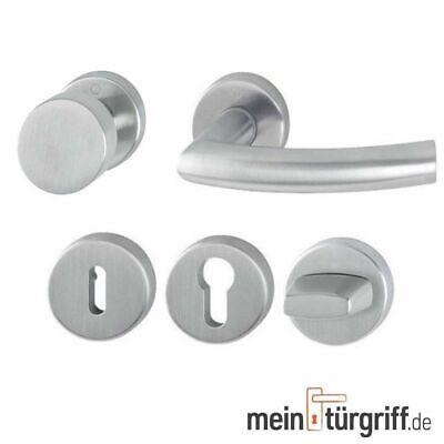 Türdrücker matt Edelstahl Rosettengarnitur Türbeschlag Modell Carina BB-PZ-WC