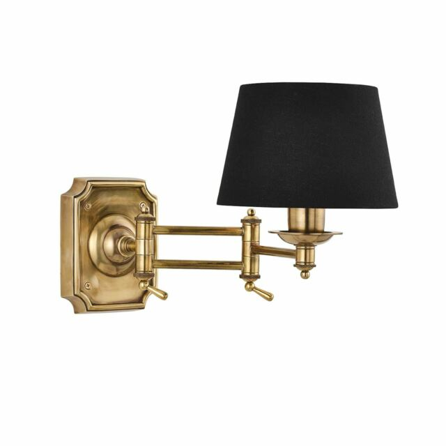 Classic Style Winchester Swing Arm Solid Brass Wall Light 0.5W - 69842