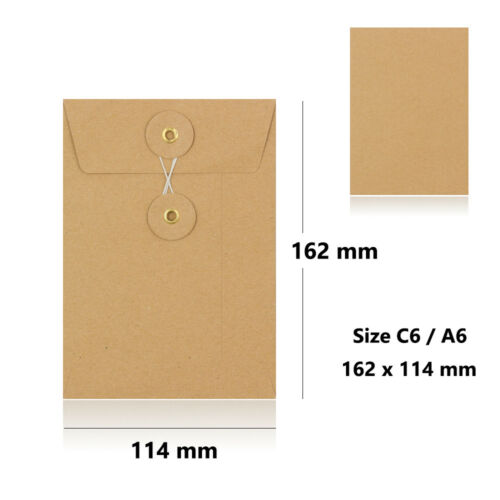 Quality Manilla String /& Washer Document Storage Bottom/&Tie Envelopes Cheap