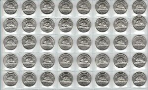 Canada-1963-Five-Cent-UNC-BU-MS-Nickel-Roll-of-40-Coins