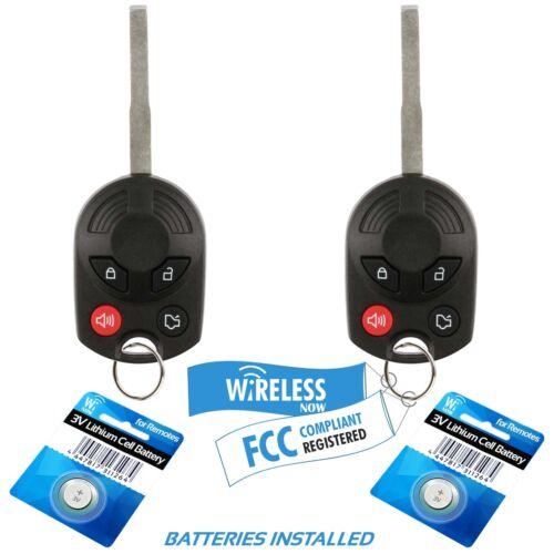 2 Car Key Fob Keyless Remote 4Btn For 2011 2012 2013 2014 2015 ...