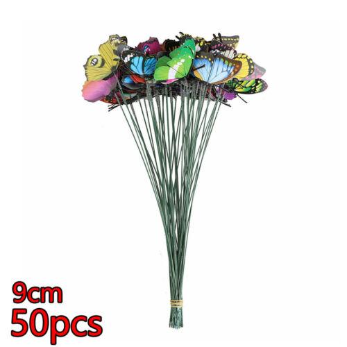 Gartendeko Schmetterling 50er Set Balkon Dekoration Blumentopfdeko Topfstecker