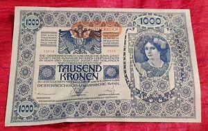 BANCONOTA-1000-TAUSEND-KRONEN-AUSTRO-UNGARICO-1902