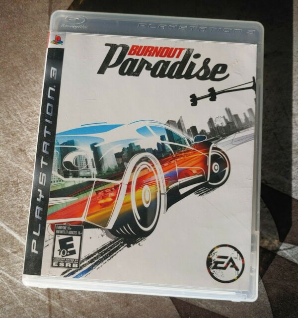 BURNOUT PARADISE PS3 PLAYSTATION VIDEO GAME EA with Manual