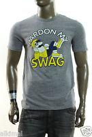 Local Celebrity Pardon My Swag Gray Graphic Crew Neck T Shirt M