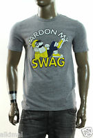 Local Celebrity Pardon My Swag Gray Graphic Crew Neck T Shirt M