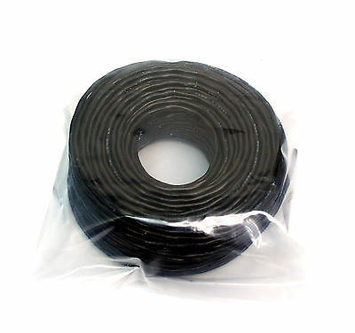50m φ 3.2mm Single Shielding Cable Wire 2C 26AWG 80℃ 300V VW1 UL2547 Color=BlacK