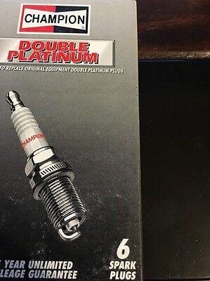 6 Pack Champion Double Platinum Spark Plugs 7401 RS12PYP