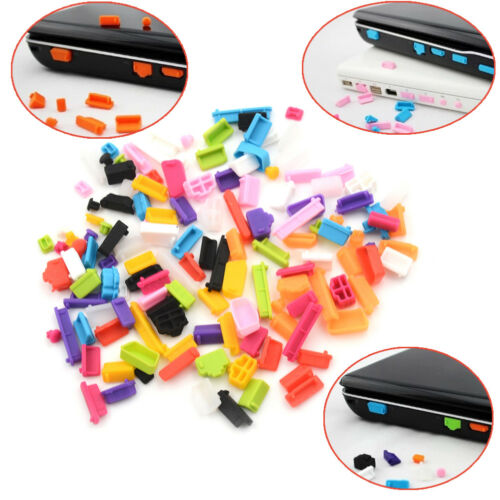 2Sets Ports Cover Set Silicone Anti Dust 13Pcs Plug Stopper For Laptop NotebookR