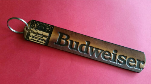 "NEW! BUDWEISER /""JUMBO/"" Quality Genuine Leather Key Holder"