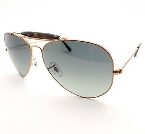 550d2b4790 Ray Ban 3029 197 71 Shiny Bronze 62 Grey Fade Outdoorsman Authentic ...