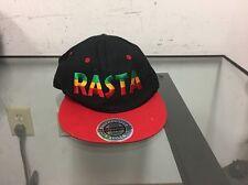 City Hunter Rasta Bear Snapback Baseball Hat Cap Black Red Yellow & Green