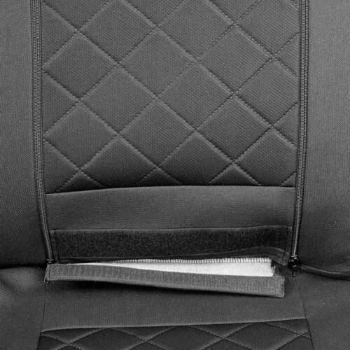 Intensif noire Sitzbezüge FORD TRANSIT Set EXTRA fonction AUGABE ouverture