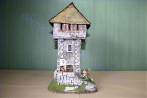 Mittelalter-Ritter-Wachturm-Bramoi-auf-Base-3127-zu-7cm-Sammelfiguren-Fertig