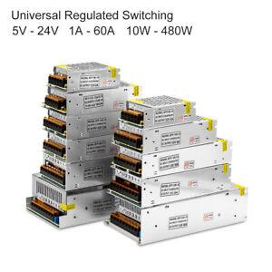 Alimentation-decoupage-regulee-AC110-220V-DC-5V-12V-24V-1A-60A-Pour-LED-3D-PSU