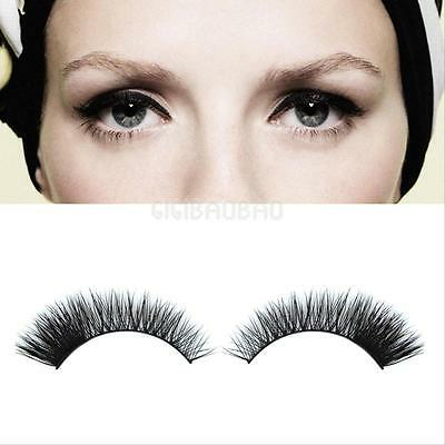 1 Pair Makeup Handmade Mink Hair Long Messy Natural False Eyelashes Eye lashes