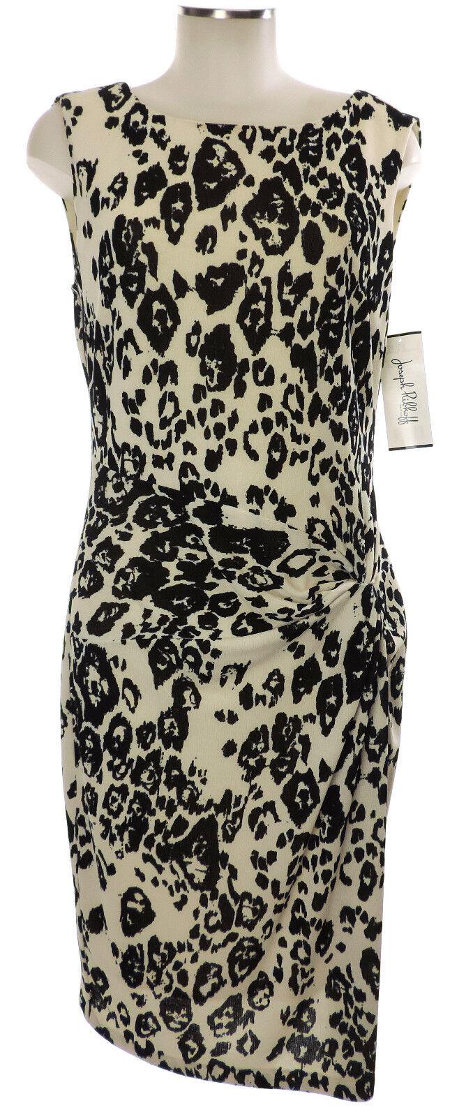 Joseph Ribkoff Kleid 42 (D) 14 schwarz weiß Strick Leomuster Polyester dress neu