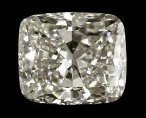 Details About 10 14 Gia Ct L Vs2 Cushion Brilliant Cut Loose Diamond Solitaire Ring Platinum