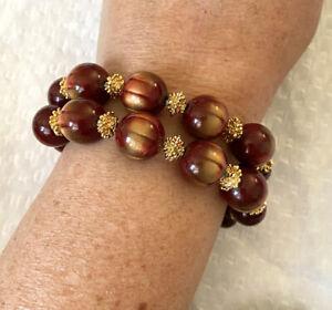 Vtg-Trifari-2-Strand-Lucite-Bead-Bracelet