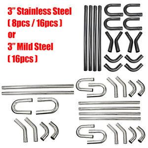 "3"" Custom Exhaust Steel Tubing Mandrel Straight U Bend Pipe Tube Piping Kit"