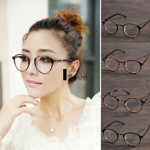 d576e5c7076cd Men Women Clear Lens Eyewear Round Plastic Frame Optical Glasses ...