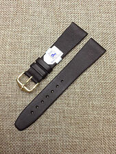 20mm BROWN VINTAGE HIRSCH POLAR GENUINE LEATHER WR MENS WATCH BAND NEW OLD STOCK