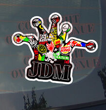 JDM CROWN Sticker Bomb Decal Vinyl Drifting Race Dope Joker Low (OTACrownBomz)