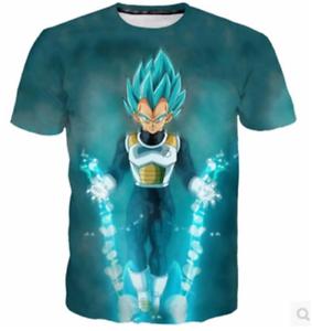 Men Women 3D T-Shirt Anime Dragon Ball Z Vegeta Lightning Print Short Sleeve Tee