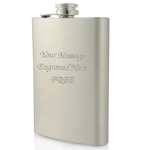 Engraved Hip Flasks 3//6//8oz Usher Groom Best Man Gift Birthday Personalised