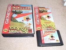 Juego de NTSC Sega Mega Drive-Pac Man 2 las nuevas aventuras-muy Raro-Completo
