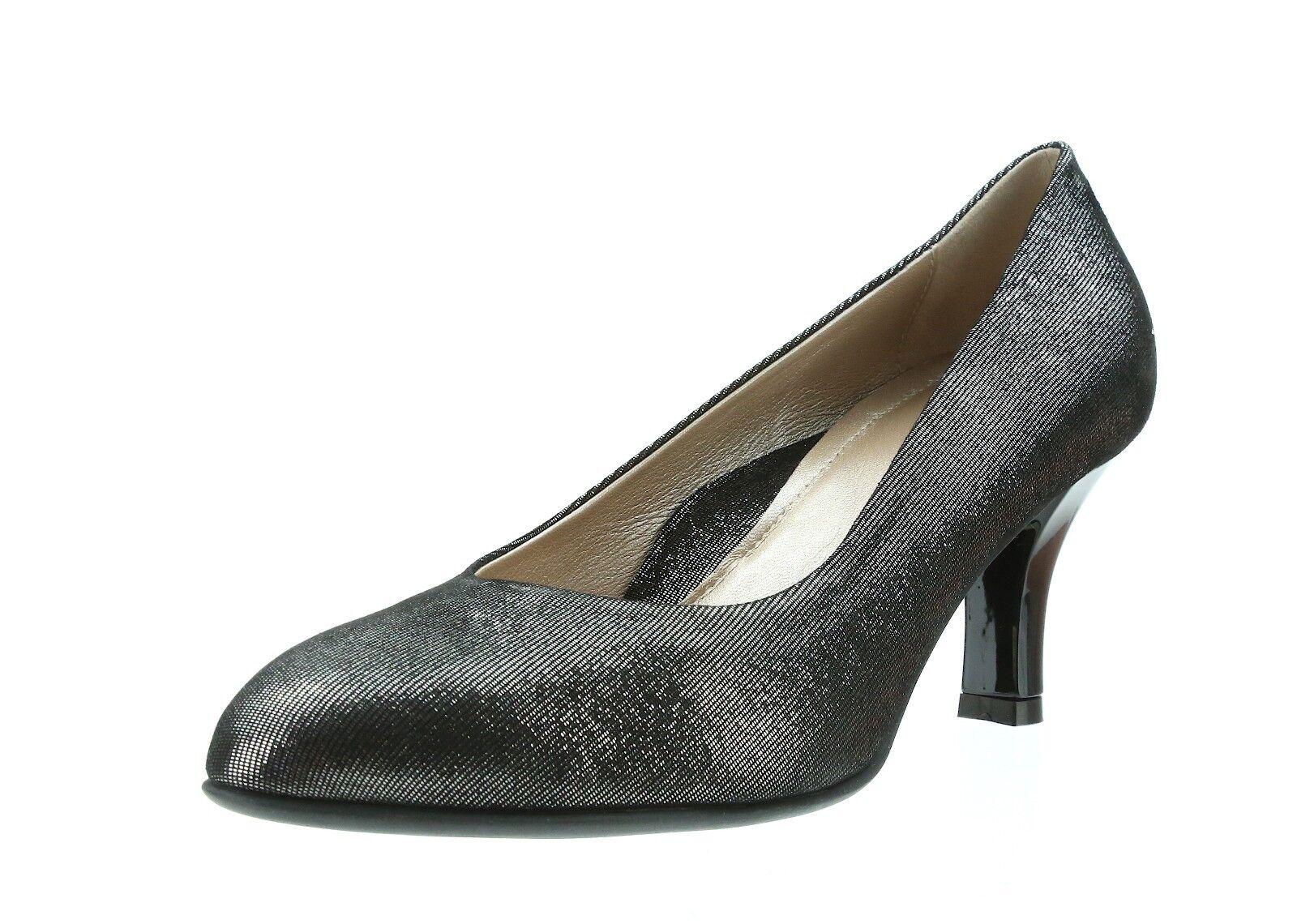 BeautiFeel LOTUS 7704 Silver Mesh Suede Pumps Heels Size 36 EU NEW
