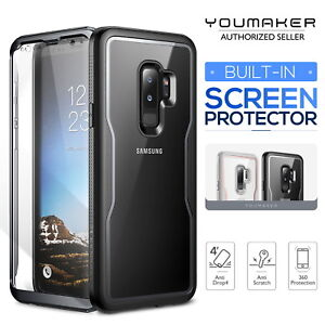 info for 9ef5a 285f6 Details about YOUMAKER Samsung Galaxy S9 S9 Plus Crystal Clear Shockproof  Full-body Case Cover