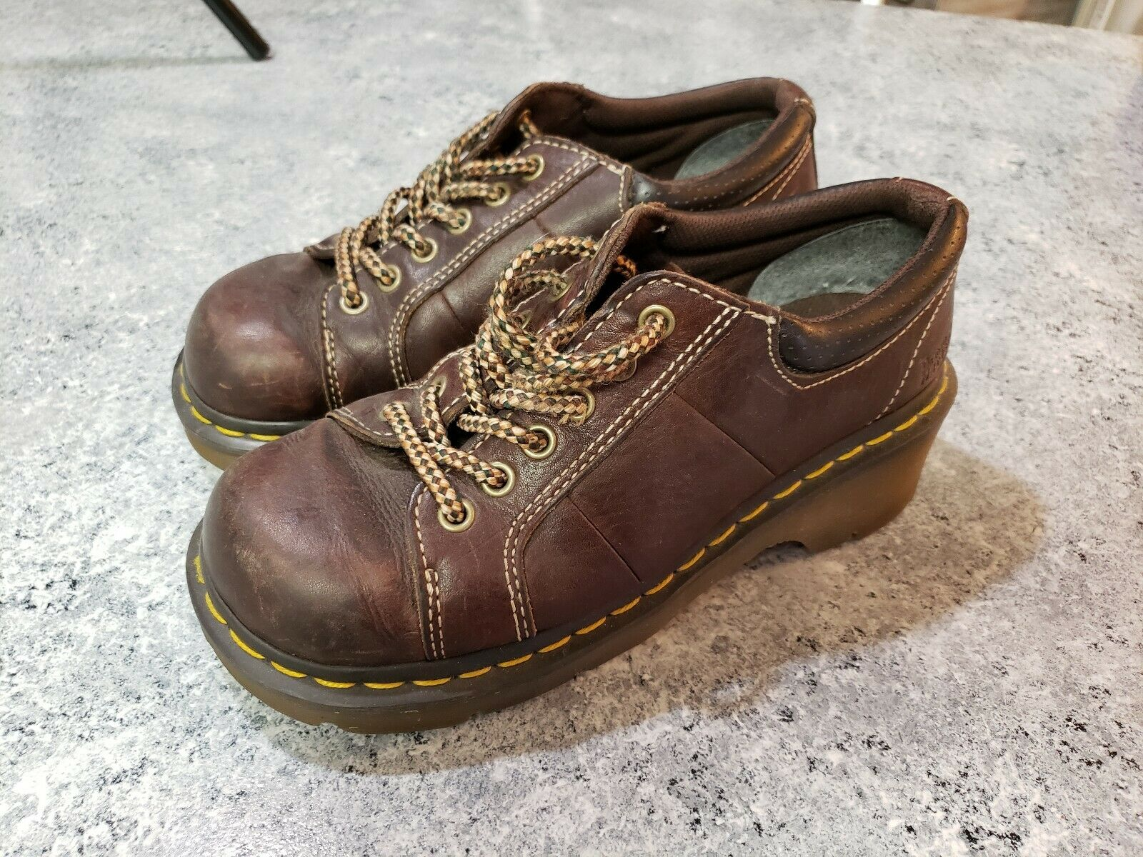 Dr Doc Martens Below Ankle Boots Womens US 6.5-7 No Slip Chunky England