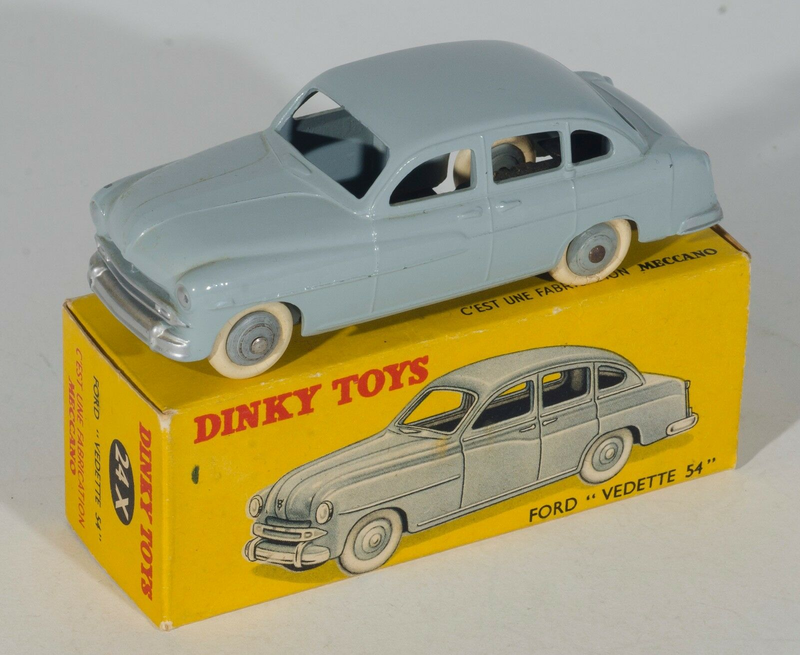 FRENCH Dinky Ford  Vedette 54  Saloon. grau. BOXED. Original 1950's