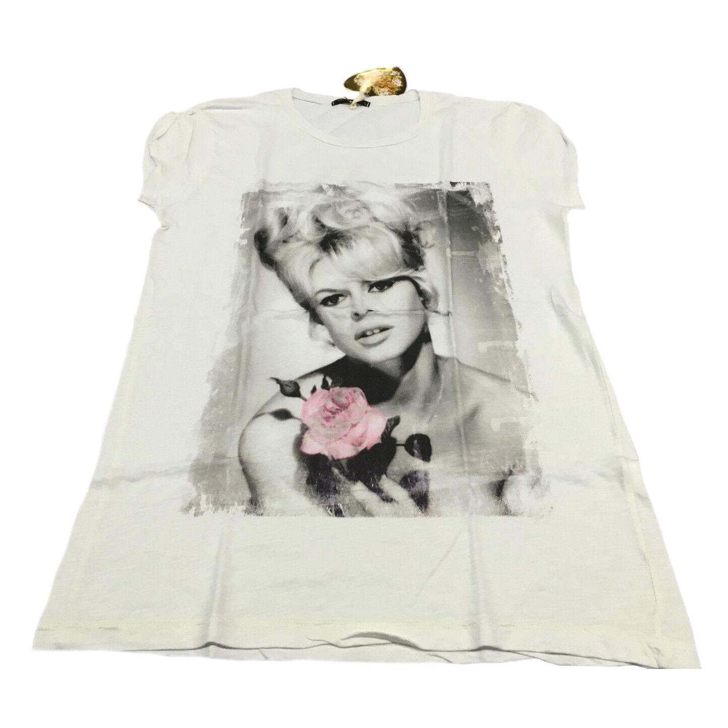 Romeo & Julieta Women's T-Shirt White Mod. Brigitte 100% Cotton Made in