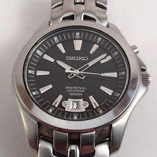 Seiko Men's Perpetual Calendar 6A32-00P0 Silver St Steel Quart Watch