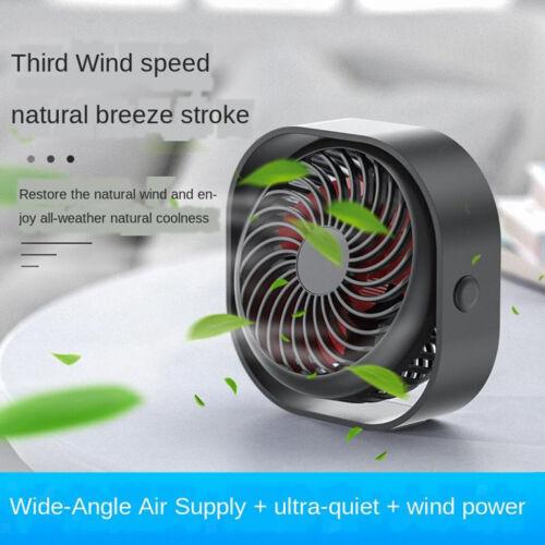 Portable Rechargeable Fan Air Cooler Mini Desk USB Fan 18650 Battery
