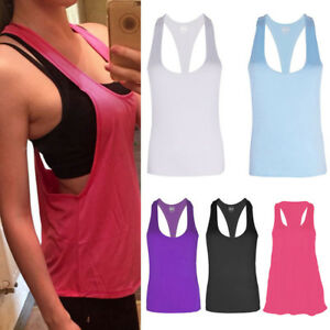Women-Fitness-Sports-Tank-Top-Seamless-Blouse-Stretch-Vest-GYM-Quick-dry-Shirt